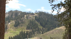 Lake Tahoe-Mountain Zoom - stock footage