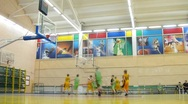 Stock Video Footage of Basketball game in Russian State University of Physical Education