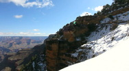 Grand Canyon Snow Time Lapse Stock Footage