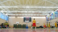 Stock Video Footage of Boys play basketball in Russian State University of Physical Education