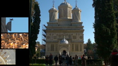 Monastery montage Stock Footage