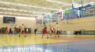 Stock Video Footage of Young men play basketball in Russian State University