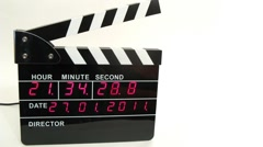Stock Video Footage of Front view on electronic clapboard, time lapse