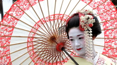 Beautiful Japanese Geisha girl, Japan, Asia Stock Footage