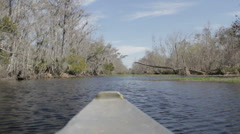 New Orleans-Bayou Boat POV Stock Footage
