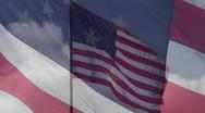 Flag on flag overlay Stock Footage