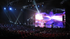 Singer performs on stage during Big Digit - 2011 awards ceremony Stock Footage