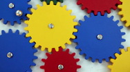 Colorful Gears Stock Footage