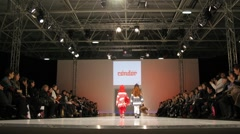 Childs demonstrate clothes during Collection Premiere Moscow - stock footage