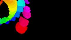 Spin wheels,spiral windmill,wind fan,energy firework particle fire art petal. Stock Footage