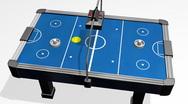 Air Hockey Table Animation HD Stock Footage