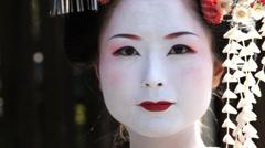 Japanese Geisha girl, Japan, Asia Stock Footage