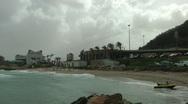 Windsurf storm riders in Mediterranean Sea. Yotveta, the shore. Stock Footage