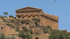 Sicily Agrigento Concordia temple ruins Stock Footage