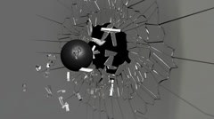 Cannon Ball Wall Crack HD Stock Footage