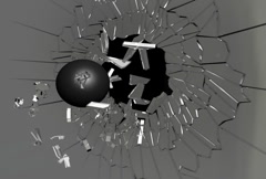 Cannon Ball Wall Crack NTSC Stock Footage