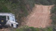 Jeep on sand road at Alexandria sand dunes Stock Footage