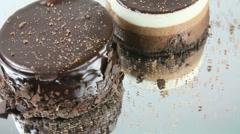 Chocolate Cakes Stock Footage