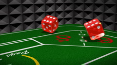 Craps Table Dice Stock Footage