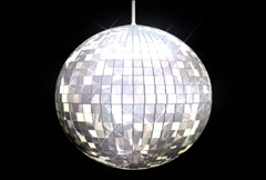 Stock Video Footage of Disco Ball Mirrors Spin (NTSC)