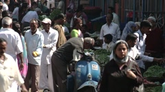 Indian Market setting Stock Footage