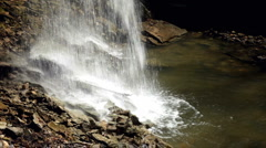 Waterfall water hitting rocks slow shutter Stock Footage