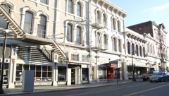 Historic Downtown Buildings 6367 Stock Footage