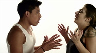 Couple Argues: Hispanic (720p / 23.98) Stock Footage