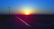 Sunset Over Imperial Valley Farmlands Zoom In Stock Footage