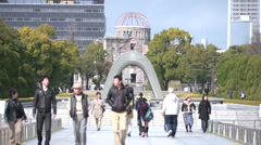 Hiroshima Peace Memorial Stock Footage