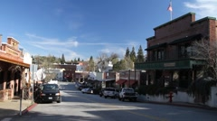 Small town , traffic Stock Footage