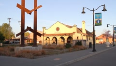 Petaluma California Train Station - stock footage