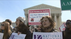 Women want equal pay Stock Footage