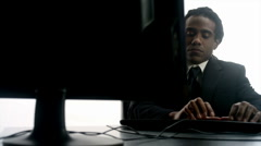 Data Entry: African Male (1080p / 23.98) Stock Footage