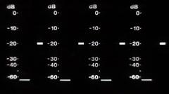 Betacam meter level Stock Footage