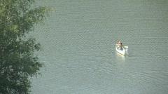 Canoeing on Peaceful Lake (HD) c Stock Footage