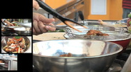 Cooking chicken montage Stock Footage