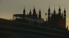 London Parliment Stock Footage