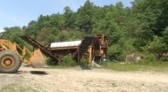 Panning Machinery Cross Road (HD) c Stock Footage