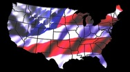 Stock Video Footage of States Outlined & US Flag