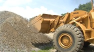 Heavy Machinery Moving Gravel (HD) c Stock Footage
