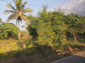 Driving through Dominican. Rural town. SD. Stock Footage