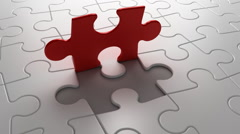 Final puzzle piece falls into place, 3d animation - stock footage
