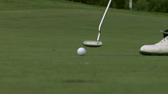 Golf Putting - stock footage