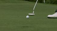 Golf Putting Stock Footage