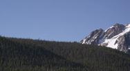 Jagged Mountain Peaks CU 77 Stock Footage