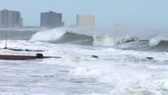 Hurricane Waves - stock footage