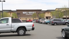 Walmart Supercenter Stock Footage