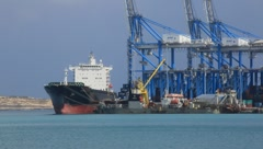 Ship Anchored at Port (HD) co Stock Footage