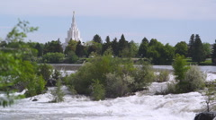 Idaho Falls Temple 18 Stock Footage